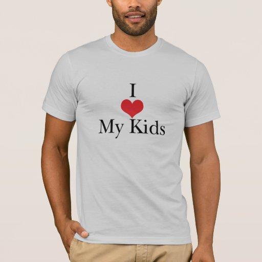 Amo (corazón) a mis niños playera
