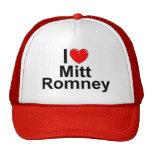 Amo (corazón) a Mitt Romney Gorro De Camionero