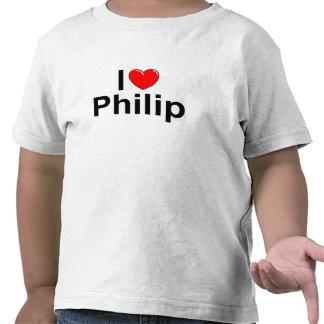 Amo corazón a Philip Camisetas