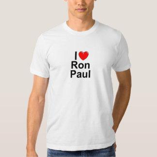 Amo (corazón) a Ron Paul Poleras