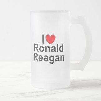 Amo (corazón) a Ronald Reagan Taza De Café