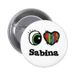 Amo (corazón) a Sabina Pin Redondo 5 Cm