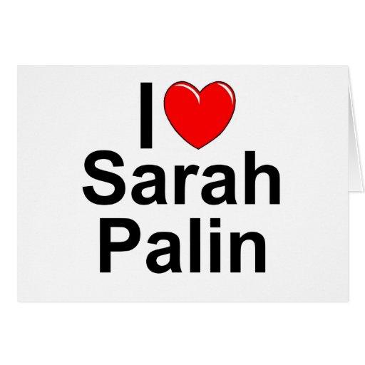 Amo (corazón) a Sarah Palin Felicitacion