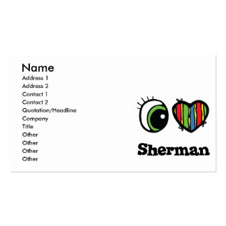 Amo (corazón) a Sherman Tarjetas De Negocios