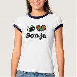 Amo (corazón) a Sonja Camiseta
