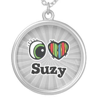 Amo (corazón) a Suzy Colgante Redondo