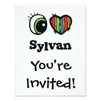 """Amo (corazón) a Sylvan Invitación 4.25"""" X 5.5"""""""