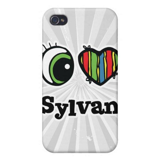Amo (corazón) a Sylvan iPhone 4 Protectores