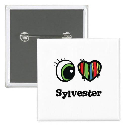 Amo (corazón) a Sylvester Pin