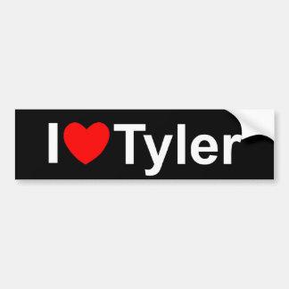 Amo corazón a Tyler Etiqueta De Parachoque