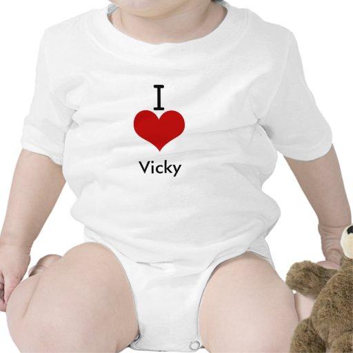 Amo (corazón) a Vicky Trajes De Bebé