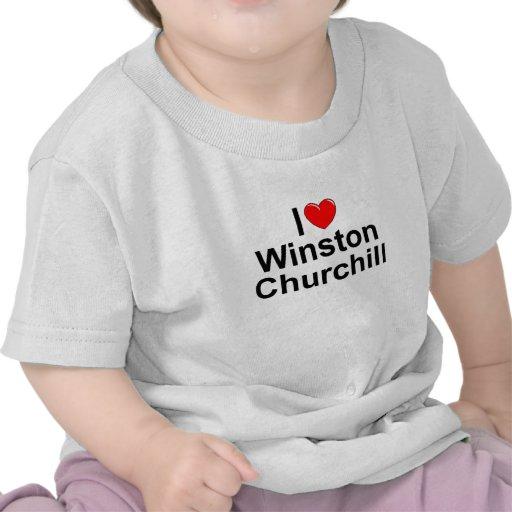 Amo (corazón) a Winston Churchill Camisetas
