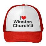 Amo (corazón) a Winston Churchill Gorros