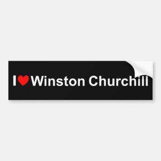 Amo (corazón) a Winston Churchill Pegatina Para Auto