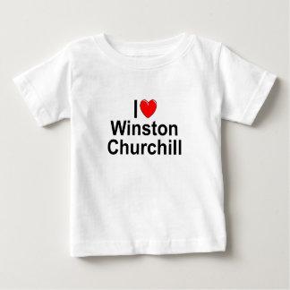 Amo (corazón) a Winston Churchill Playera De Bebé