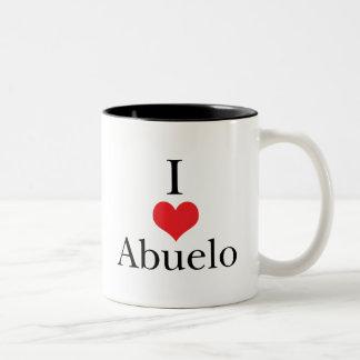 Amo (corazón) Abuelo Taza De Café
