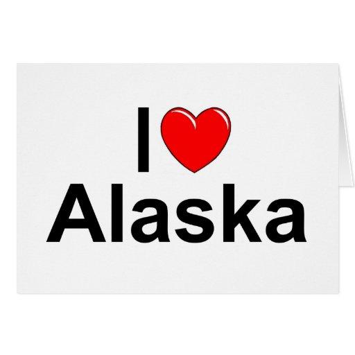 Amo (corazón) Alaska Felicitación