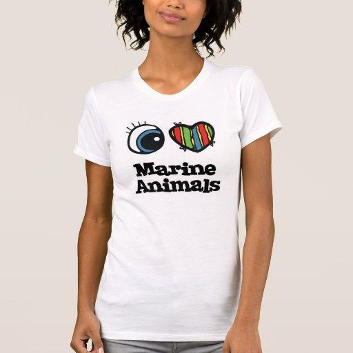 Amo (corazón) animales marinos tshirts