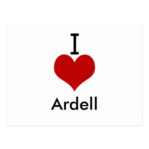 Amo (corazón) Ardell Postales