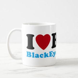 Amo (corazón) BMX Taza Básica Blanca