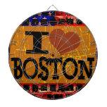 Amo (corazón) Boston - vintage Boston Tablero Dardos