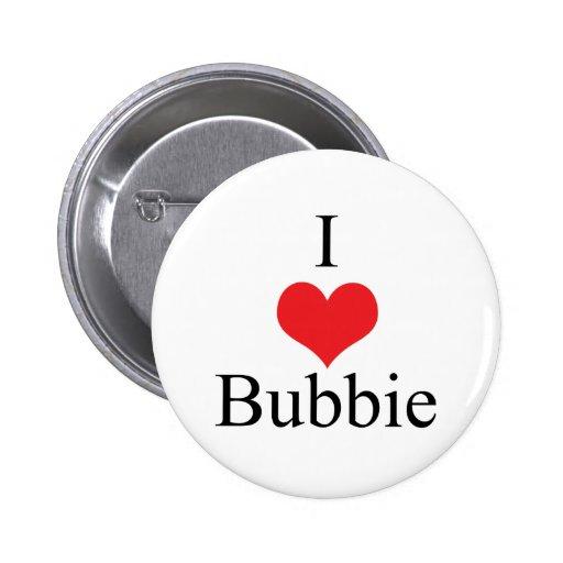 Amo (corazón) Bubbie Pins