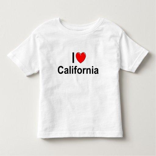 Amo (corazón) California Playera De Niño