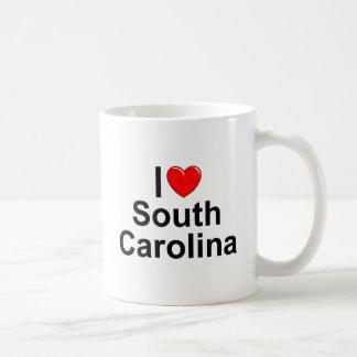 Amo (corazón) Carolina del Sur Taza