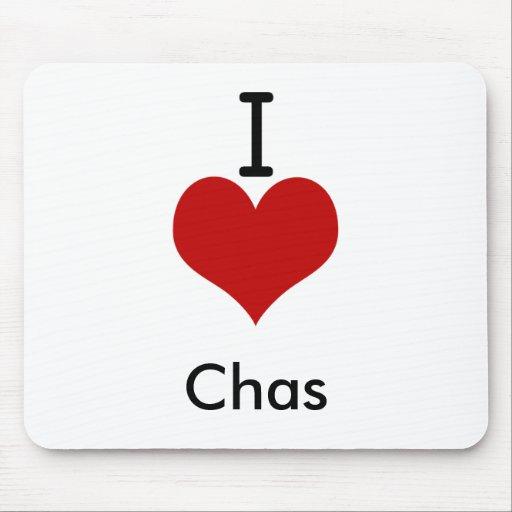 Amo (corazón) Chas Alfombrillas De Ratones