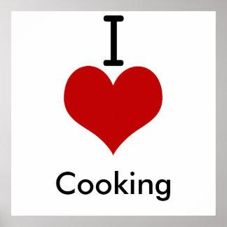 Amo (corazón) cocinar impresiones