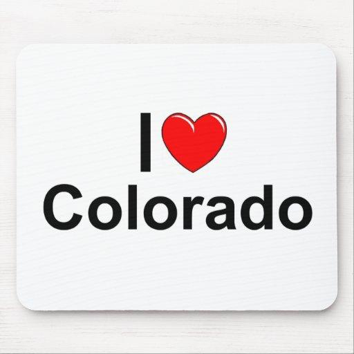 Amo (corazón) Colorado Alfombrilla De Ratón