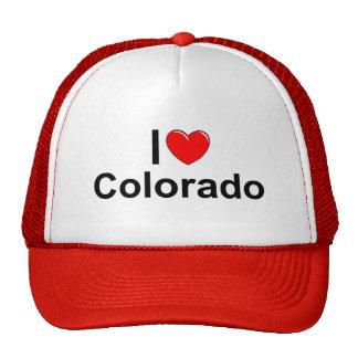 Amo (corazón) Colorado Gorros Bordados