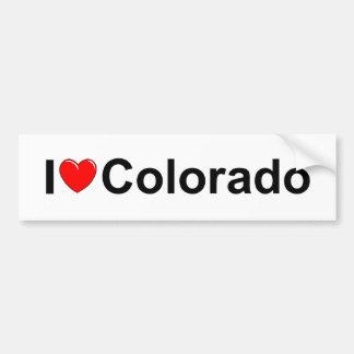 Amo (corazón) Colorado Pegatina Para Auto