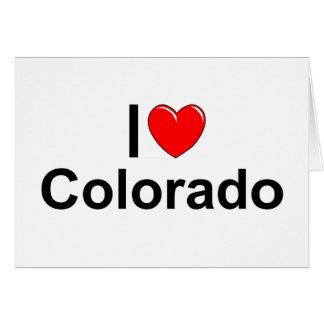 Amo (corazón) Colorado Tarjeta De Felicitación
