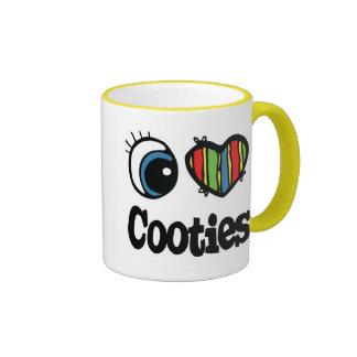 Amo (corazón) Cooties Taza