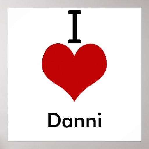 Amo (corazón) Danni Póster