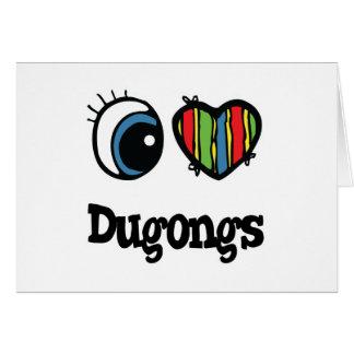 Amo corazón Dugongs Felicitacion