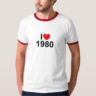 Amo (corazón) el an o 80 playera