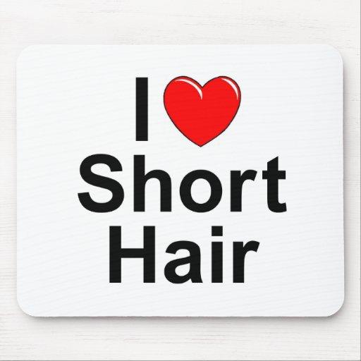Amo (corazón) el pelo corto tapete de raton