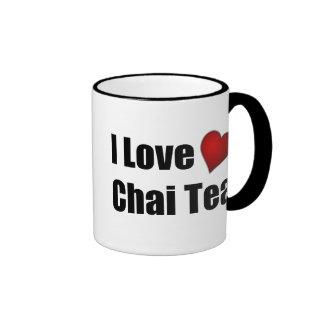 Amo (corazón) el té de Chai - taza adaptable del