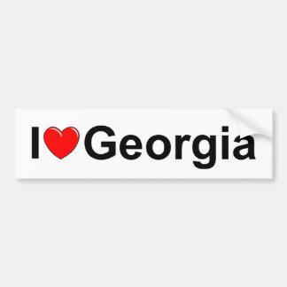 Amo (corazón) Georgia Pegatina Para Auto