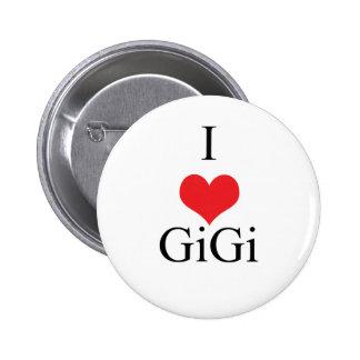 Amo (corazón) GiGi Pin Redondo 5 Cm