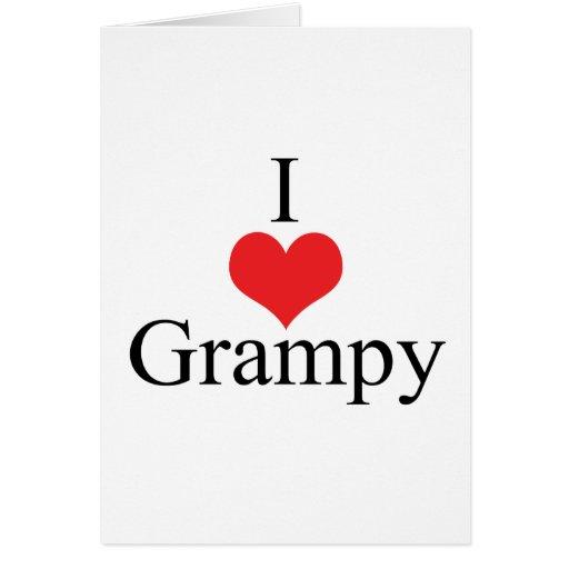 Amo (corazón) Grampy Tarjeta