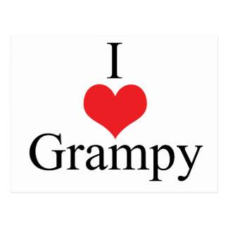Amo (corazón) Grampy Tarjeta Postal