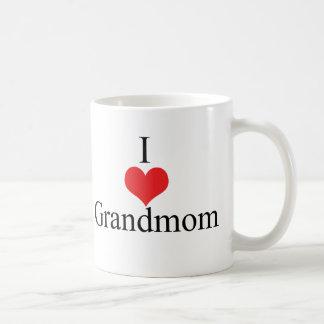 Amo (corazón) Grandmom Taza