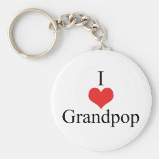 Amo (corazón) Grandpop Llaveros Personalizados