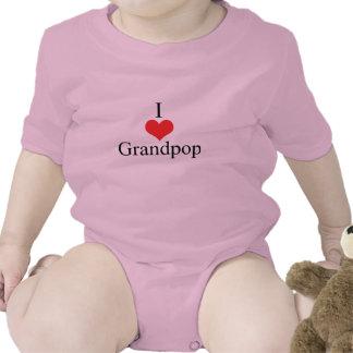 Amo (corazón) Grandpop Traje De Bebé