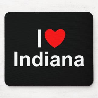 Amo (corazón) Indiana Alfombrilla De Ratones
