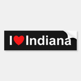 Amo (corazón) Indiana Pegatina Para Auto
