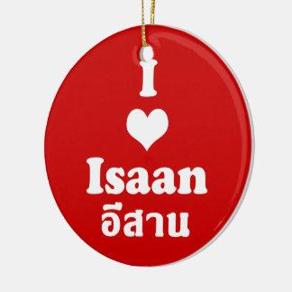 Amo (corazón) Isaan Adorno Navideño Redondo De Cerámica